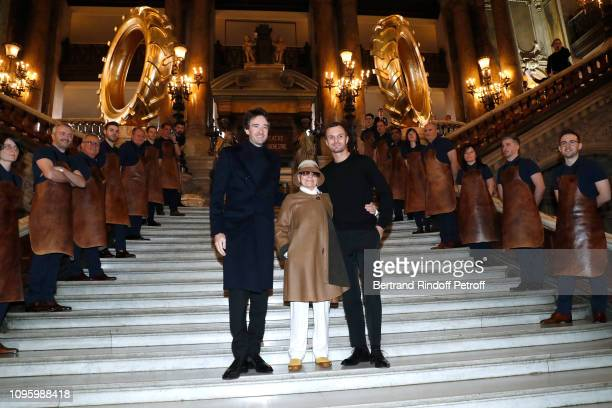 General manager of Berluti Antoine Arnault Olga Berluti and Stylist Kris Van Assche attend the Berluti Menswear Fall/Winter 20192020 show as part of...