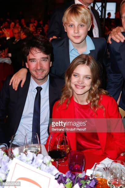 General manager of Berluti Antoine Arnault with Model and President of the 'Naked Heart Foundation' Natalia Vodianova and her son Lucas attend 'The...