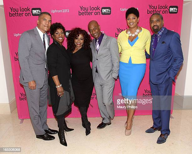 General manager of BET Centric Paxton Baker Gladys Knight Chaka Khan president of music programming BET Networks Stephen Hill Vicky Free and...