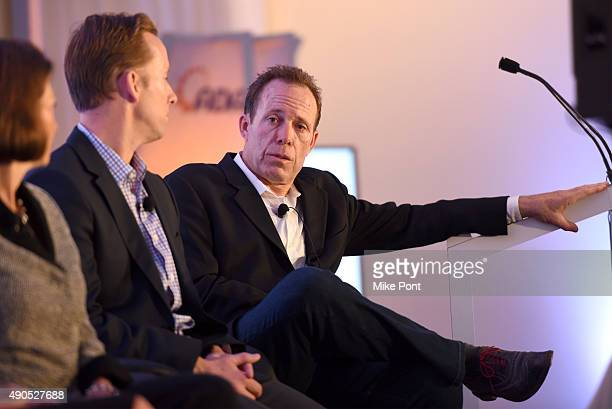 VP General Manager of BrightRoll Exchange at Yahoo Dan Mosher and CRO Yume Scot McLernon speaks onstage at the Masters of Monetization Video panel...