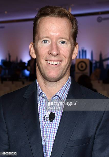 General Manager of BrightRoll Exchange at Yahoo Dan Mosher poses at the Masters of Monetization Video panel during Advertising Week 2015 AWXII at the...