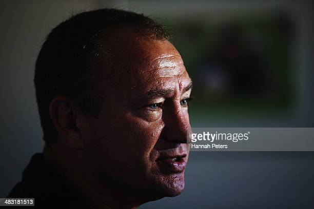 General manager of football operations, Dean Bell looks on following a New Zealand Warriors NRL media session announcing the resignation of Matt...