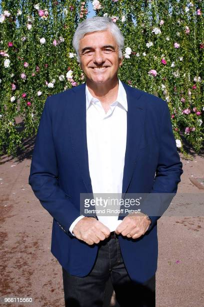 General manager of LVMH Antonio Belloni attends the Inauguration of the new Jardin D'Acclimatation on June 2 2018 in Paris France