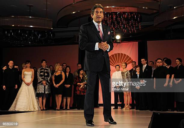 General manager of Mandarin Oriental Las Vegas at CityCenter Rajesh Jhingon speaks during a fashion show to unveil new uniforms for employees at the...