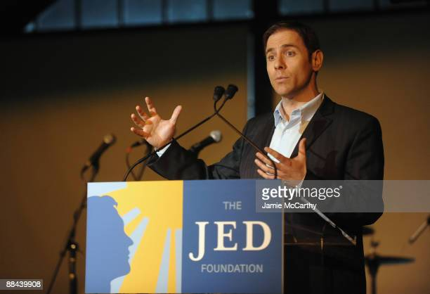 General manager of MTV Stephen Friedman speaks on stage at the 8th Annual Jed Foundation Gala at Guastavino's on June 11 2009 in New York City