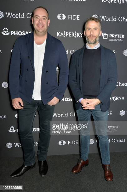 General manager of Northern Europe, Martijn Van Lom and head of global partnerships and sponsorships at Kaspersky Lab, Aldo del Bo attend the...