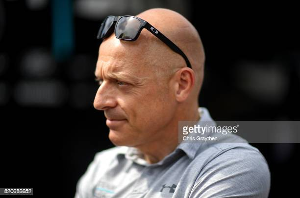 General manager of Team Sky Dave Brailsford speaks to the media during stage twenty of Le Tour de France 2017 on July 22 2017 in Marseille France