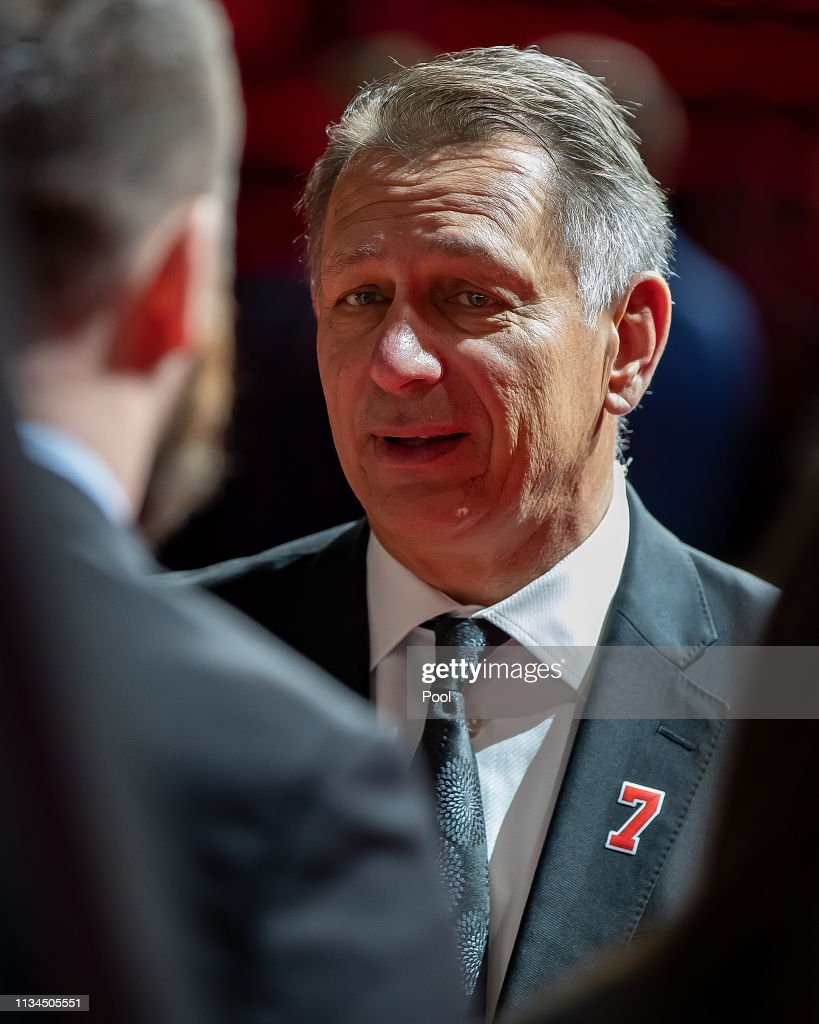 NHL Hall Of Famer Ted Lindsay Funeral : News Photo