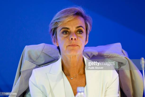 General Manager of the French Football Federation and Executive Committee member Florence Hardouin during the General Meeting of the French football...