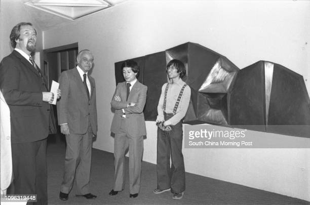 General Manager of the Hong Kong Arts Centre Mr Neil Duncan Chairman of the Arts Centre Committee Mr Bill Bailey architect of the Arts Centre Mr Tao...