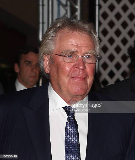 General Manager of the New York Rangers Glen Sather arrives for the Hockey Hall of Fame induction ceremony at Brookfield Place on November 12, 2012...