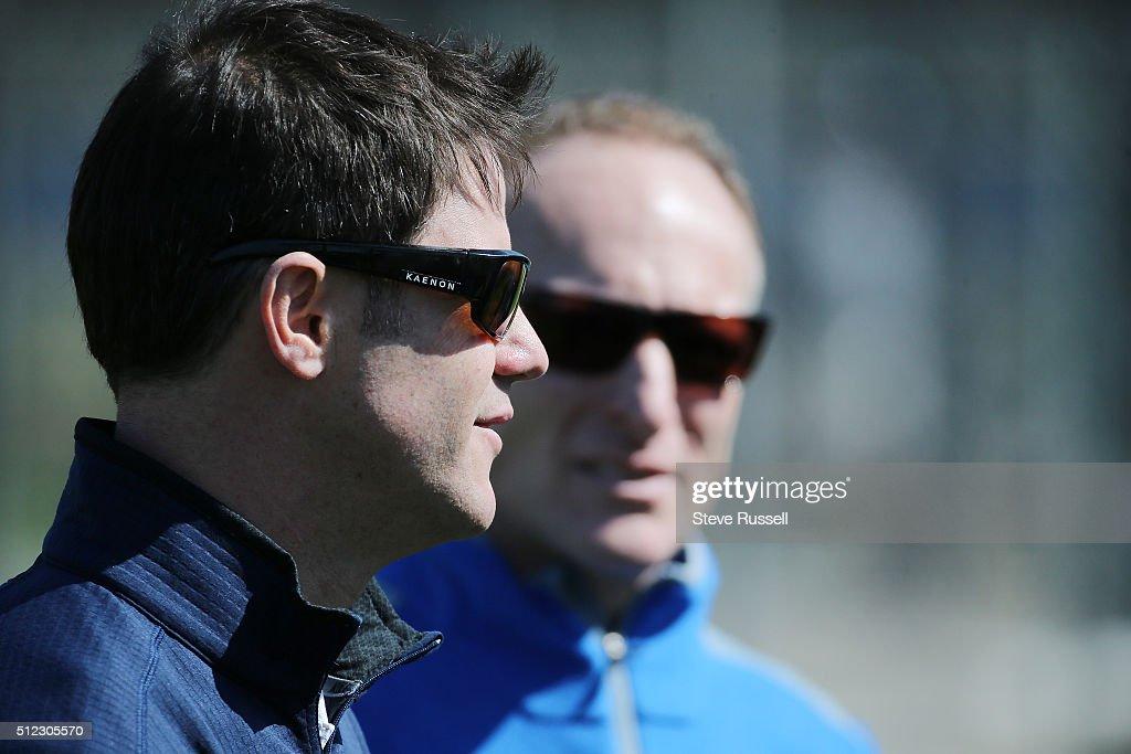 General Manager Ross Atkins and President Mark Shapiro. Toronto Blue Jays Spring Training for the 2016 Major League Baseball Season in Bobby Mattick Training Center at Englebert Complex in Dunedin. February 25, 2016.