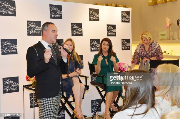 General Manager Saks Fifth Avenue Beverly Hills Robert ArnoldKraft Amanda Benchley Bridget Moynahan and Author Booth Moore speak onstage during Saks...