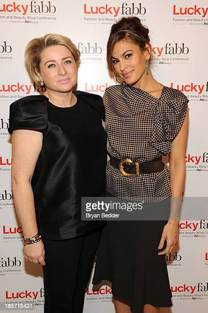 General Manager SVP at Lucky Magazine Gillian Gorman Round and Eva Mendes attend Lucky Magazine's TwoDay East Coast FABB Fashion and Beauty Blog...