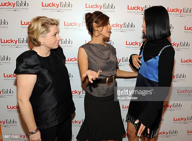 General Manager SVP at Lucky Magazine Gillian Gorman Round Eva Mendes and editor in Chief of Lucky Eva Chen attend Lucky Magazine's TwoDay East Coast...
