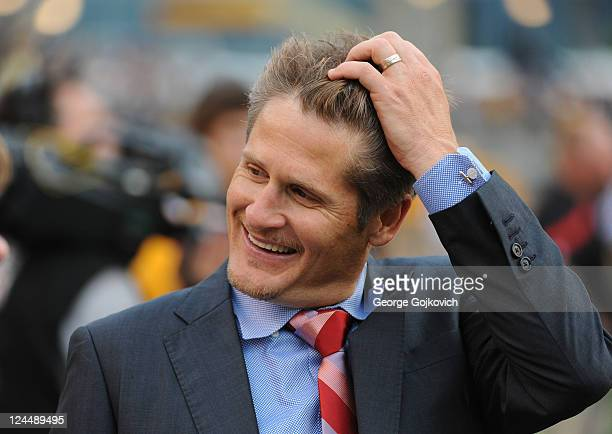General Manager Thomas Dimitroff of the Atlanta Falcons looks on from the sideline before a preseason game against the Pittsburgh Steelers at Heinz...