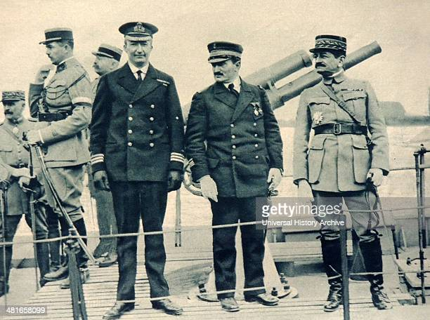 General Mangin and Commander Acheson at a naval review on the Rhine