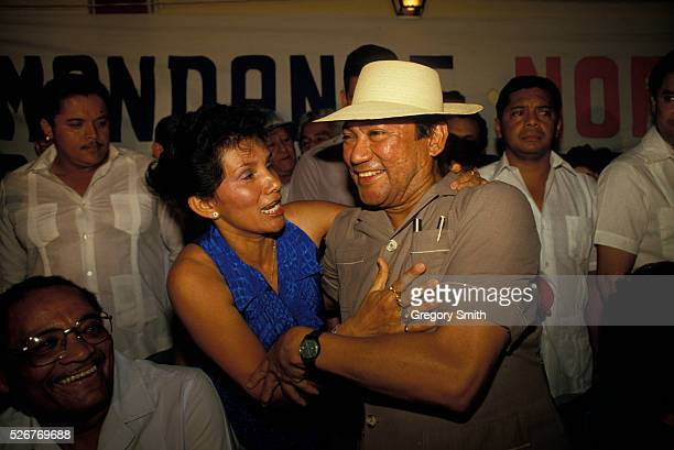 General Manuel Noriega under the influence at a social gathering Photo taken in February 1988