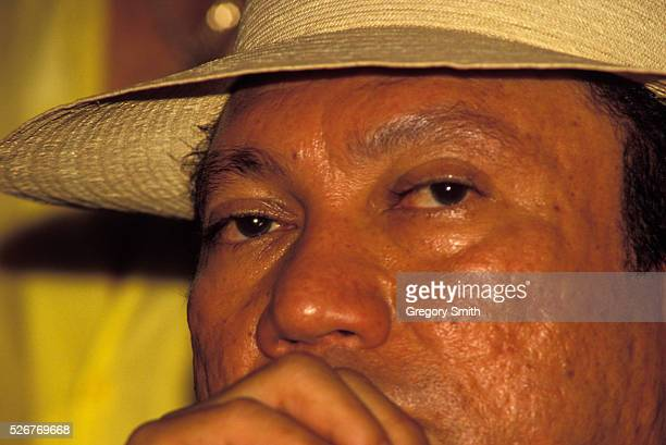 General Manuel Noriega under the influence of cocaine at a social gathering