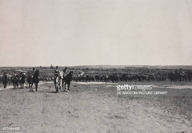 General Mario Nicolis of Robilant during the review of the Italian troops on the French front France World War I from l'Illustrazione Italiana Year...
