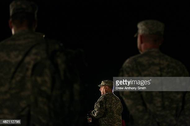 General Mark Milley III Corps and Fort Hood Commanding General speaks to media during a press conference about a shooting that occurred earlier in...