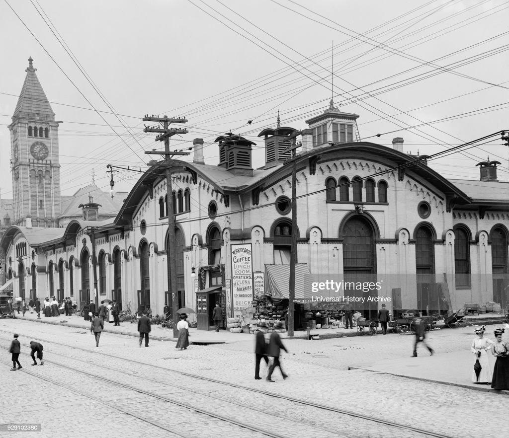 General Market, Pittsburgh, Pennsylvania, USA, Detroit Publishing Company, 1900 : News Photo