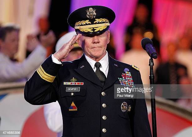 General Martin E Dempsey Chairman Joint Chiefs of Staff on stage at the 26th National Memorial Day Concert on May 24 2015 in Washington DC