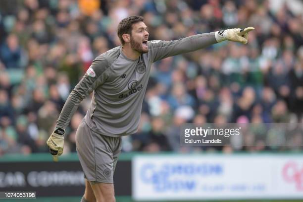 General match image of Craig Gordon of Celtic FC during the Ladbrokes Premiership match between Hibernian and Celtic at Easter Road on December 16...