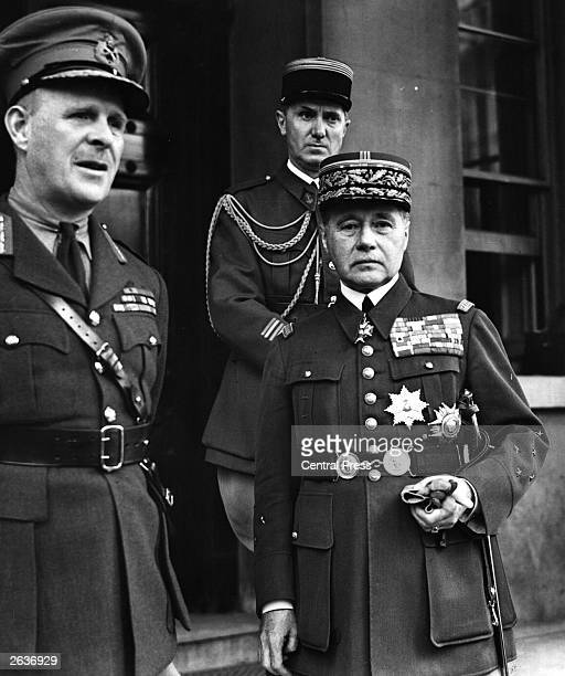 General Maurice Gustave Gamelin who believed that a defensive line such as the Maginot Line would work with Viscount Gort