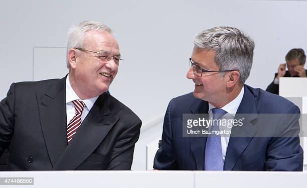General meeting of AUDI AG in Neckarsulm Dr Martin Winterkorn chairman of the board and Rupert Stadler CEO of AUDI AG