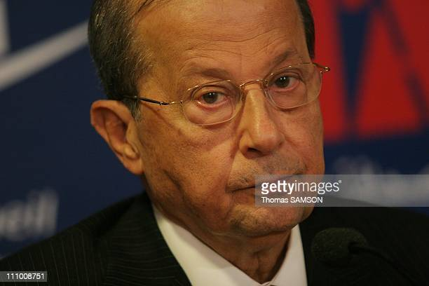 General Michel Aoun at a press conference at CAPE in Paris France on July 29th 2007