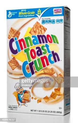 general mills cinnamon toast crunch cereal box stock photo getty images