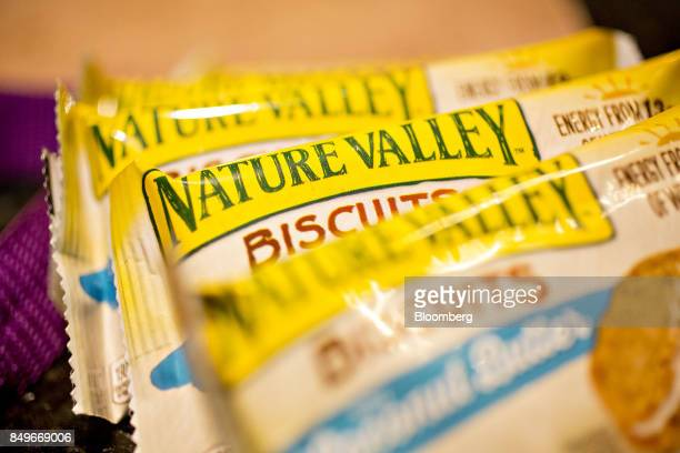General Mills Inc Nature Valley brand biscuits with coconut butter are arranged for a photograph in Tiskilwa Illinois US on Tuesday Sept 19 2017...