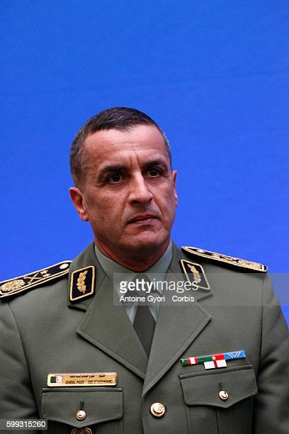 General Mohamed Kaidi Dit Kadid attends a FrancoAlgerian summit at the Hotel Matignon in Paris