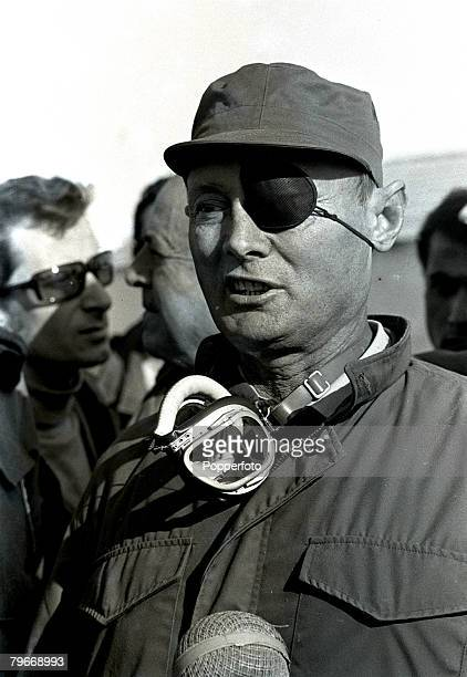 General Moshe Dayan the Israeli defence minister, pictured in Gaza, Israel, 8th January 1973