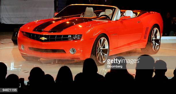 General Motor Corp unveils the 2007 Chevrolet Camaro concept car during a GM event on the eve of the Detroit Auto Show in Detroit Michigan Saturday...