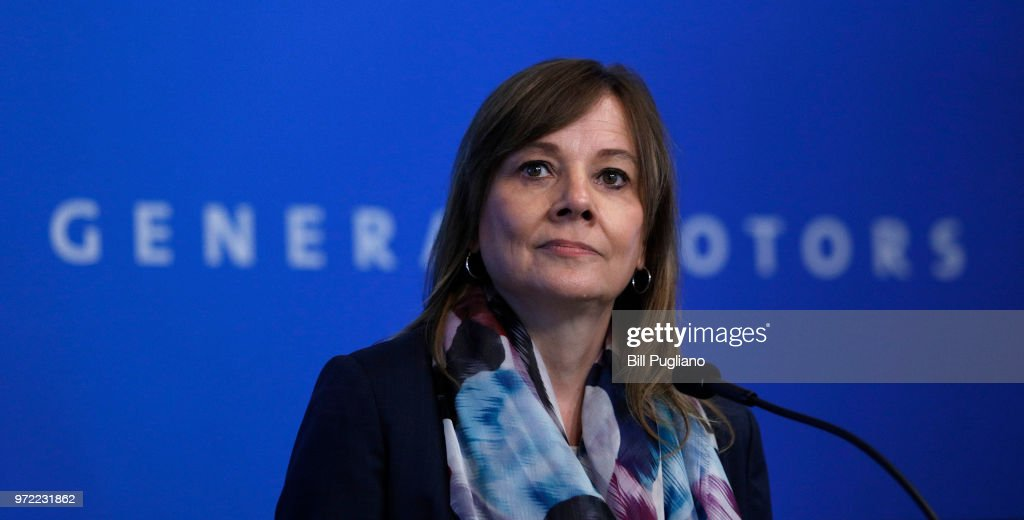 GM CEO Mary Barra Addresses the 2018 General Motors Annual Meeting of Shareholders : ニュース写真