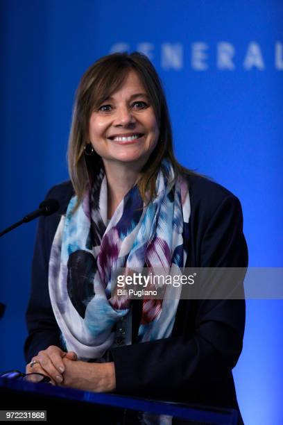 General Motors CEO Mary Barra speaks to the news media before the automobiile maker's annual meeting of shareholders at GM world headquarters June12...