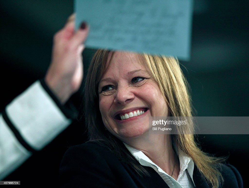 GM CEO Mary Barra Addresses Detroit Economic Club