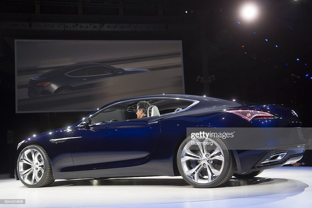 General Motors Co. Buick Event Ahead Of The 2016 North American International Auto Show (NAIAS) : News Photo