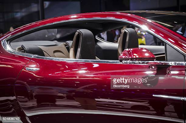 A General Motors Co Buick Avista coupe stands on display at the Beijing International Automotive Exhibition in Beijing China on Tuesday April 26 2016...