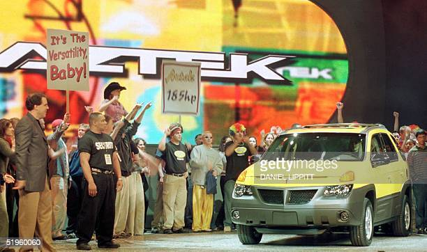 General Motors debuts the Pontiac Aztek at the North American International Auto Show in Detroit 10 January 2000 Pontiac bills the 'Aztek' the 'first...