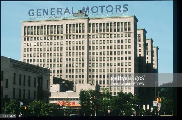 General Motors headquarters is on display June 29, 1998 in Flint, MI. The United Auto Workers Union strike has affected about 148,000 GM North...