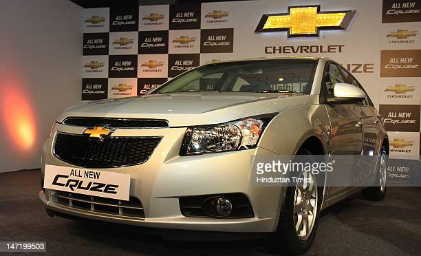 General Motors newly launched Chevrolet Premium Sedan 'Cruze' on June 27 2012 in New Delhi India The new Cruze is powered by a 2 litre diesel engine...