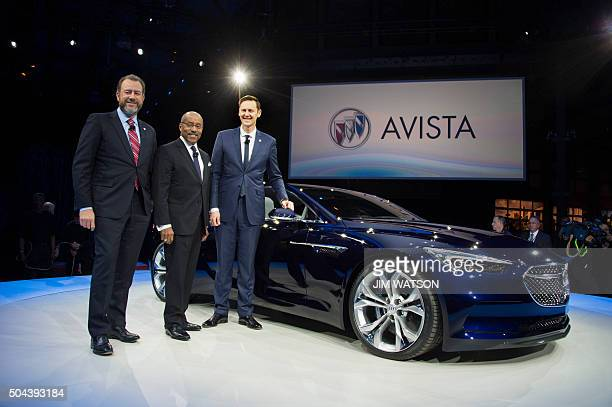 General Motors President Dan Ammann General Motors Vice President of Global Design Ed Welburn and Buick Vice President of Global Sales Duncan Aldred...