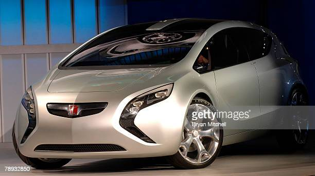 General Motors shows of the Saturn Flextreme Concept to the world automotive media during the press preview days at the North American International...