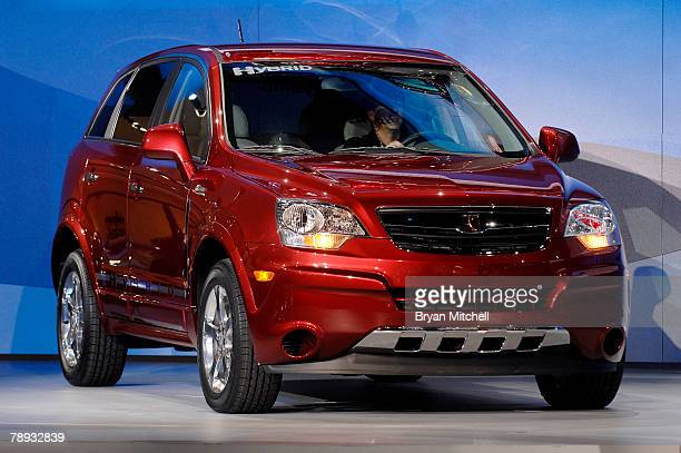 General Motors shows off the 2009 Saturn Vue Green Line 2 Mode Hybrid to the world automotive media during the press preview days at the North...
