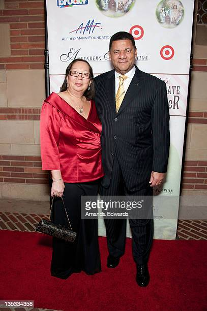 General Motors' US Vice President of Diversity Eric Peterson and his wife Sandy arrive at Debbie Allen's 2nd Annual The Hot Chocolate Nutcracker at...