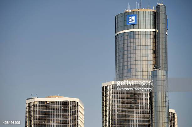 general motors world headquarters - detroit michigan stock pictures, royalty-free photos & images