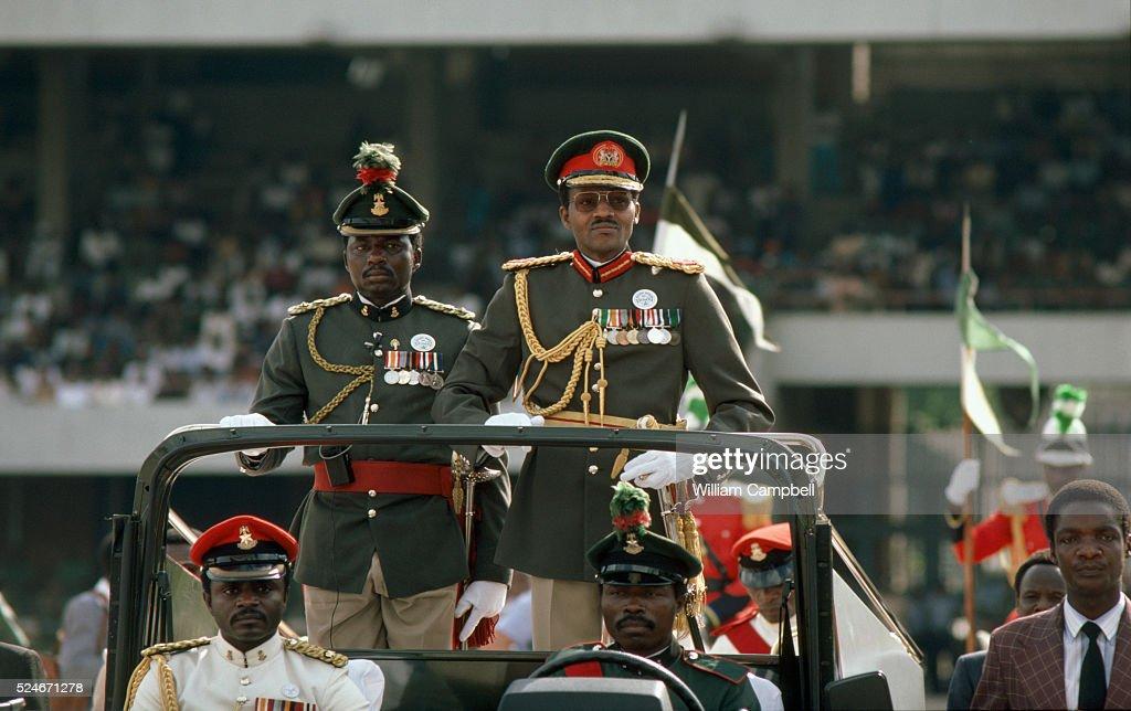 General Muhammadu Buhari of Nigeria After Coup : News Photo